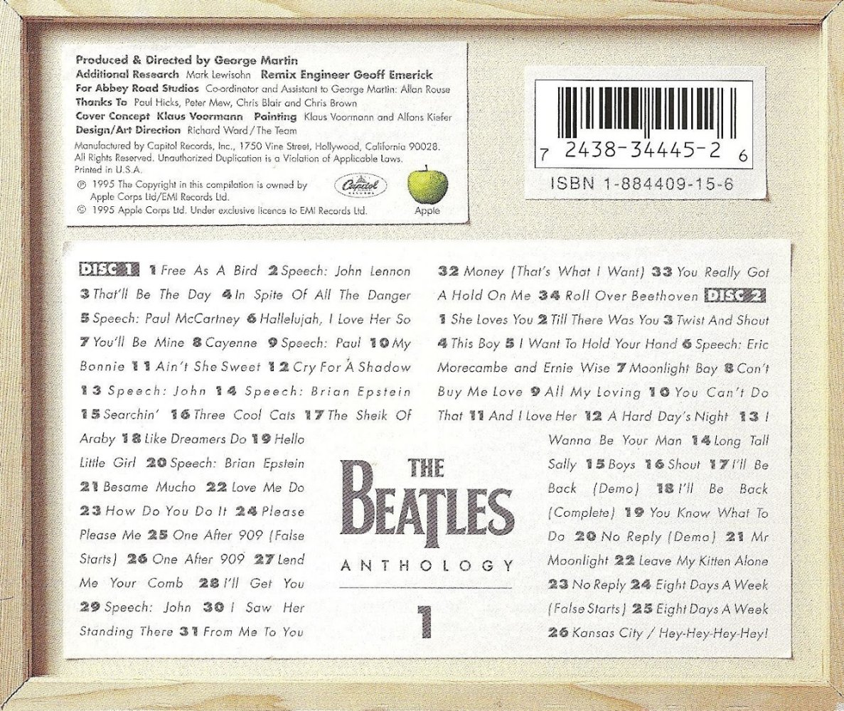 Beatles MIDI/MP3 Music Homepage - Anthology 1